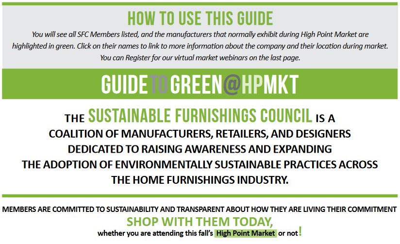 Guide to Green at High Point Market